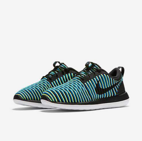 Nike Roshe Two Flyknit Green Black Shoes