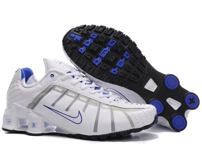 Nike Shox NZ III White Blue Shoes