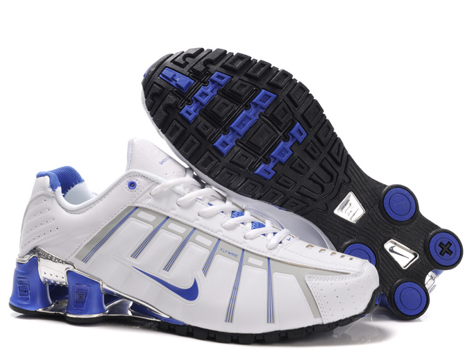Nike Shox NZ III White Grey Blue Shoes