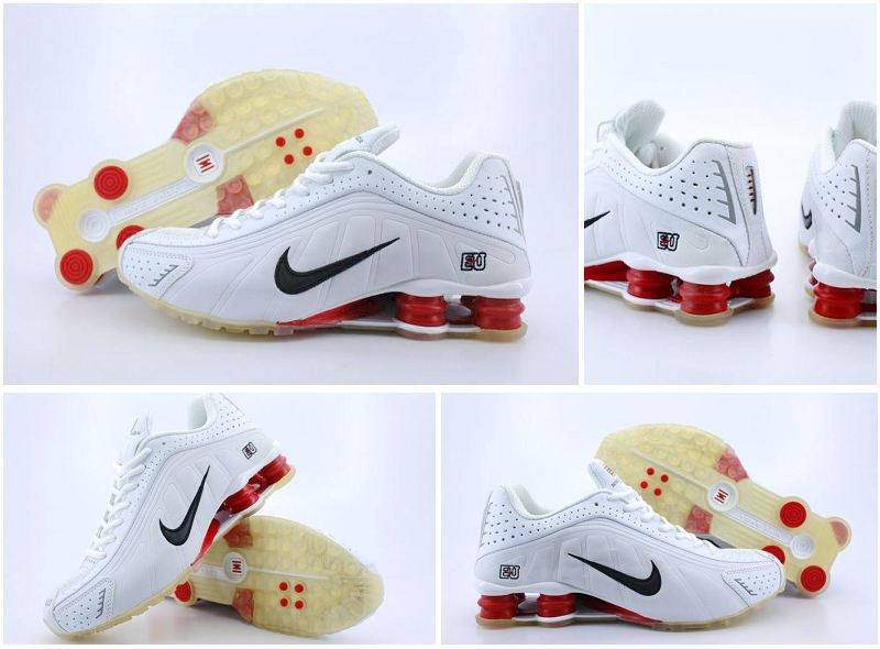 Nike Shox R4 White Red Black Logo