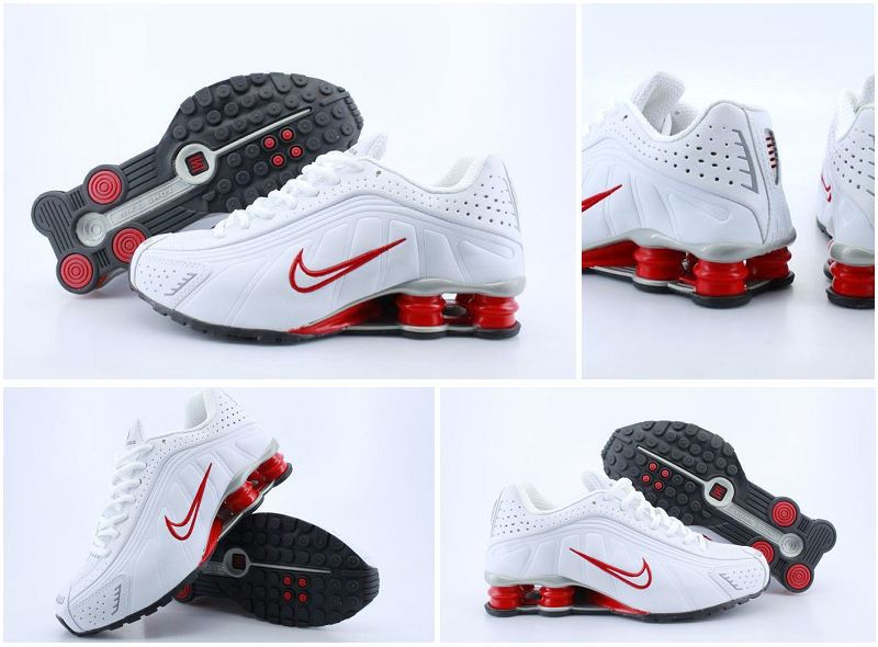 Nike Shox R4 White Red Footwear