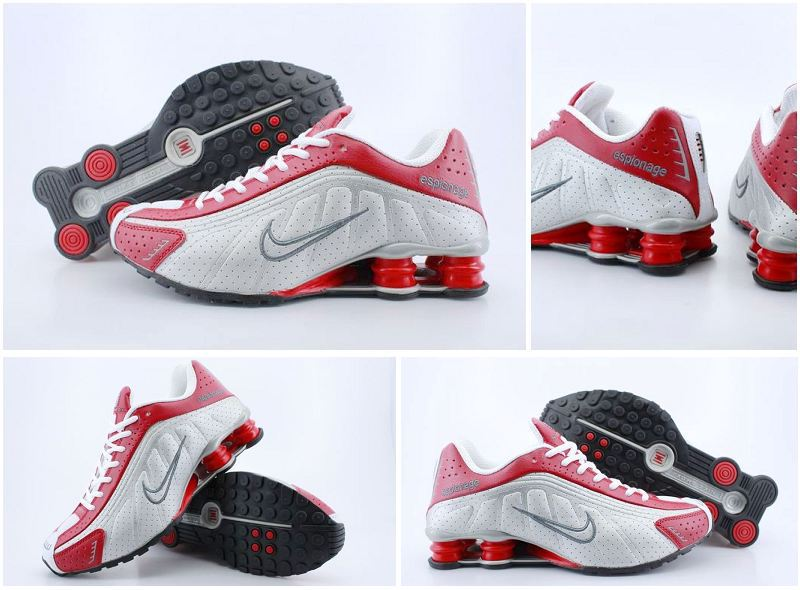 Nike Shox R4 White Red Grey Logo