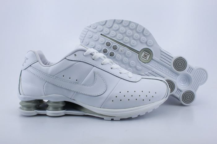 Nike Shox R4CL All White Shoes