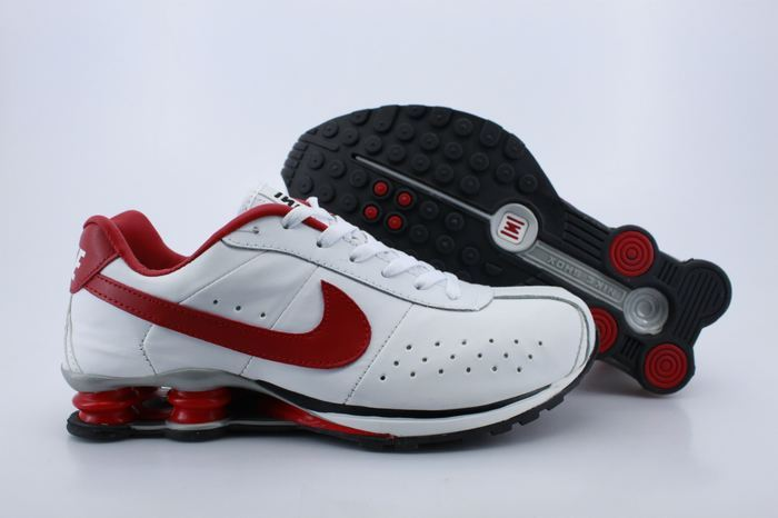 Nike Shox R4CL White Red Shoes