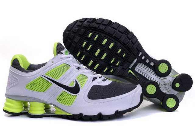 Mens Nike Shox Turbo+ 11 Shoes White Green