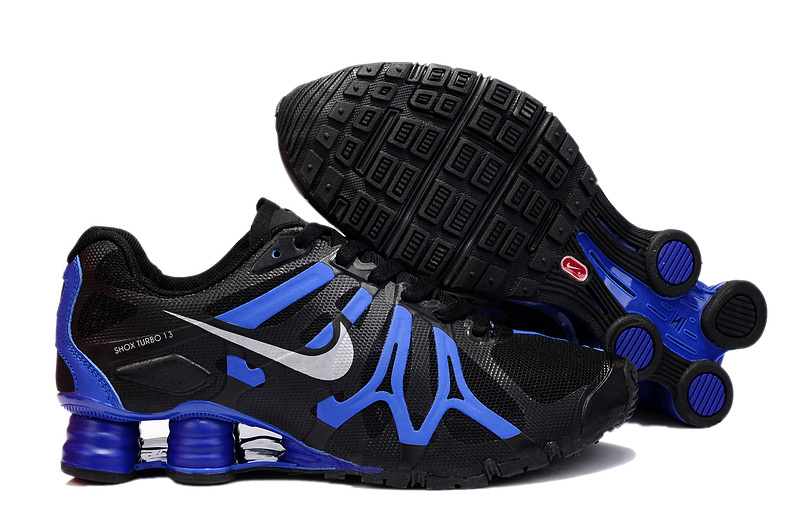 Nike Shox Turbo+13 Black Blue White Shoes