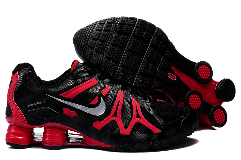 Nike Shox Turbo+13 Black Red Shoes
