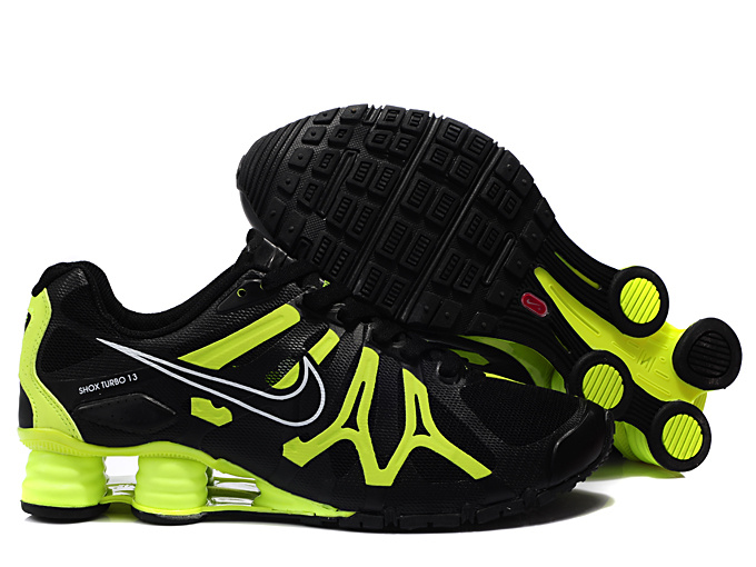 Nike Shox Turbo+13 Black Volt Shoes