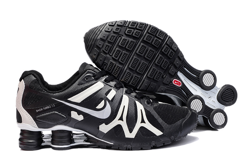 Nike Shox Turbo+13 Black White Shoes
