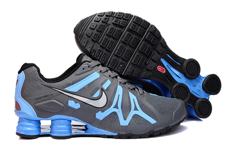 Nike Shox Turbo+13 Grey Blue Shoes