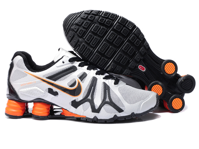 Nike Shox Turbo+13 White Black Orange Shoes