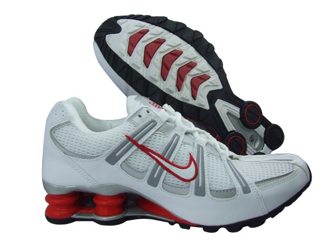 Nike Shox Turbo Men's Shoes White Grey Red