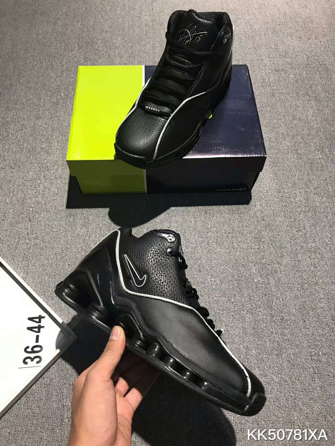 Nike Vince Carter All Black Basketball Shoes