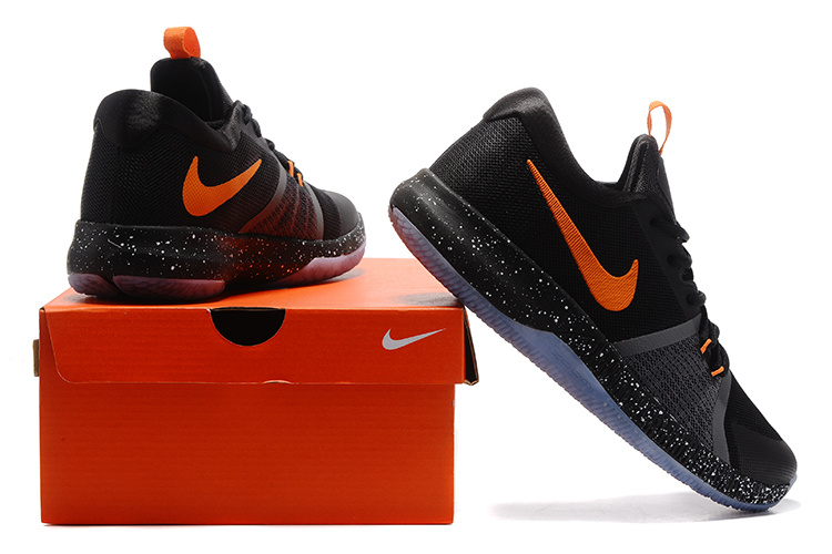 Nike Zoom Assersion EP Black Orange Ice Sole Shoes - Click Image to Close
