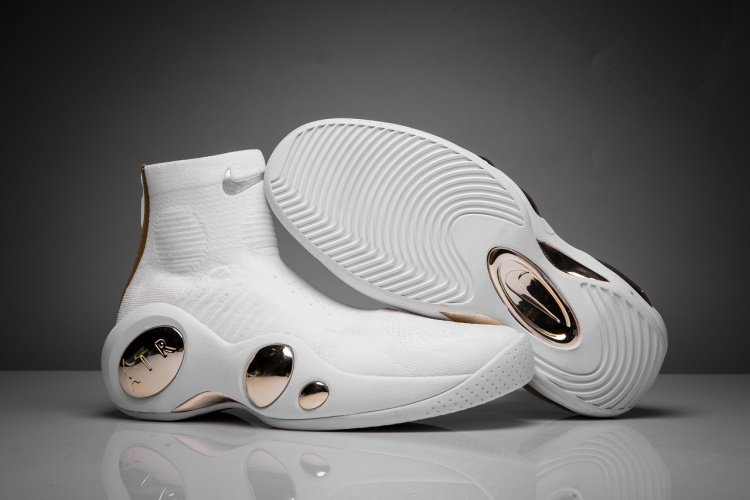 Nike Zoom Flight Bonafide White Gold Shoes