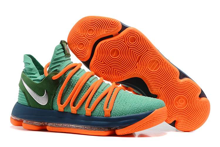 Nike Zoom KD 10 EP Green Orange Blue Shoes