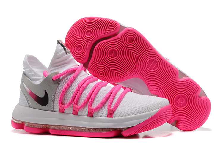 Nike Zoom KD 10 EP White Grey Pink Shoes