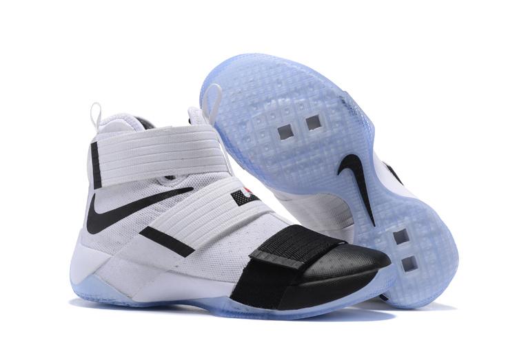 28ac02de8d164 Nike Zoom Lebron Soldier 10 White Black Ice Sole Shoes  17kobe103022 ...