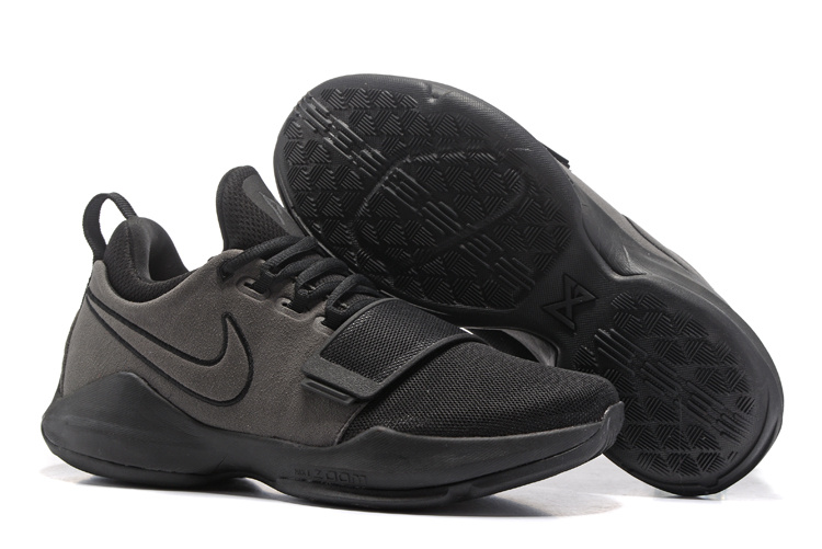 Nike Zoom PG 1 All Black Grey Shoes