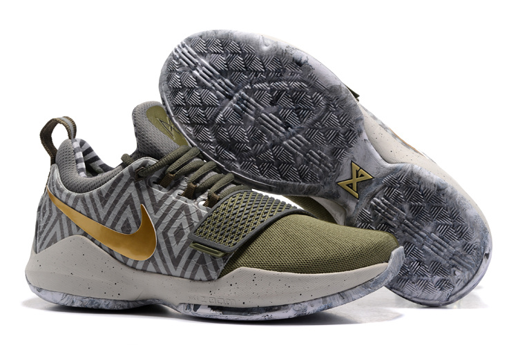 Nike Zoom PG 1 Army Green Grey Gold Shoes