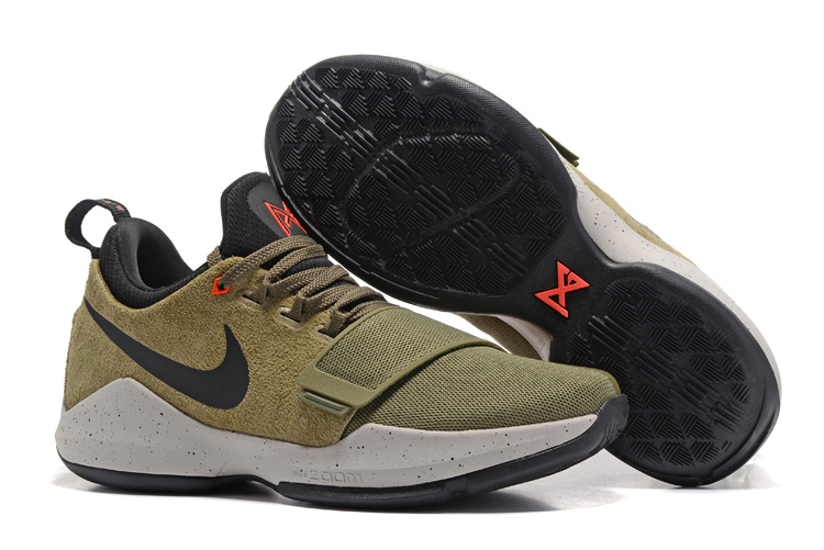 Nike Zoom PG 1 Army Green Yellow Black Shoes