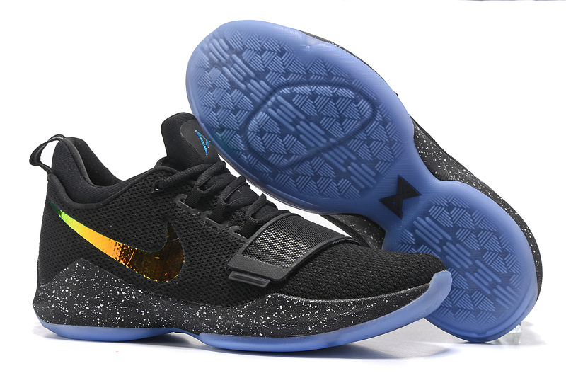 Nike Zoom PG 1 Black Gold Blue Shoes