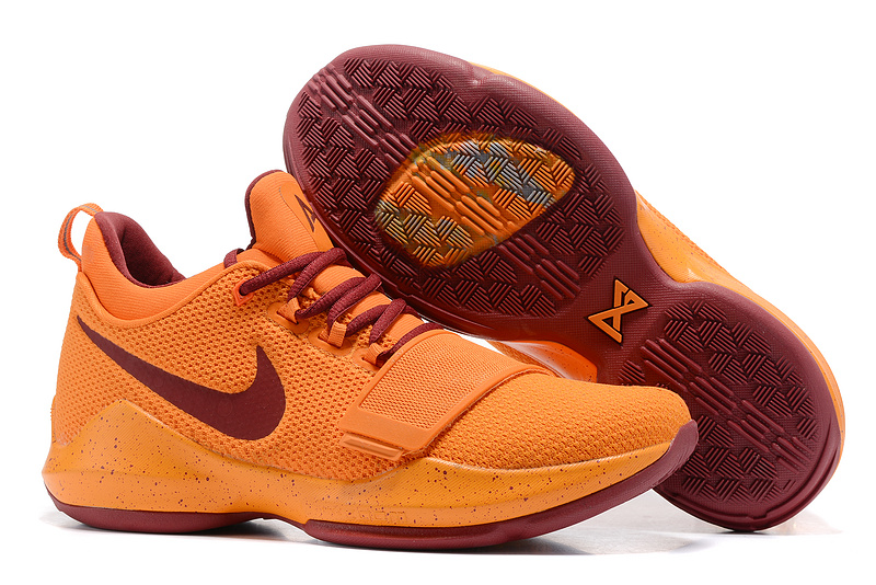 Nike Zoom PG 1 Orange Wine Red Shoes