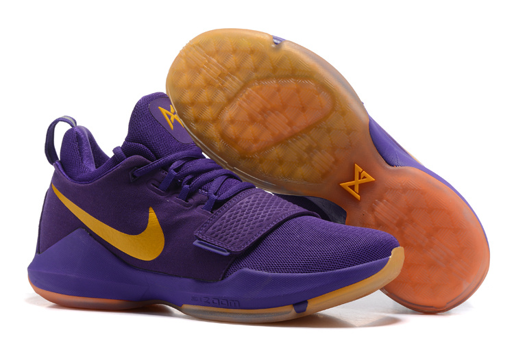 Nike Zoom PG 1 Purple Yellow Shoes