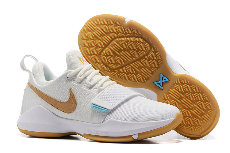 Nike Zoom PG 1 White Gum Yellow Shoes
