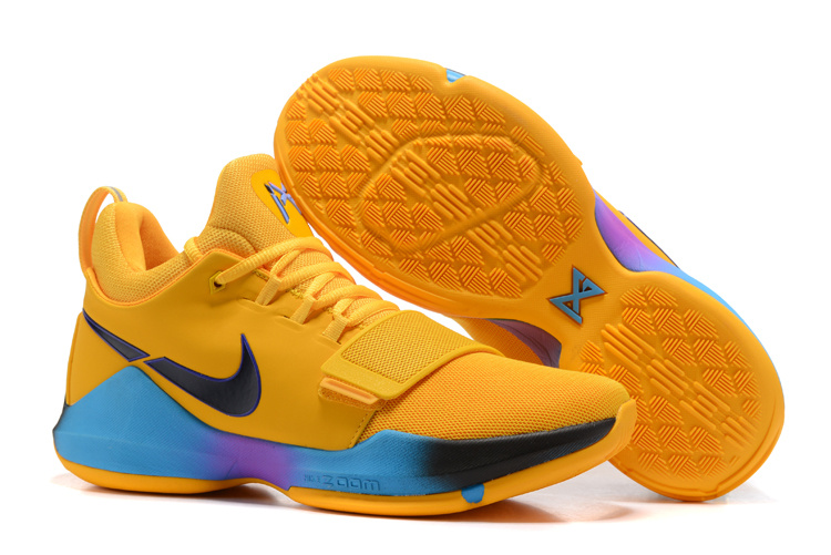 Nike Zoom PG 1 Yellow Black Blue Shoes