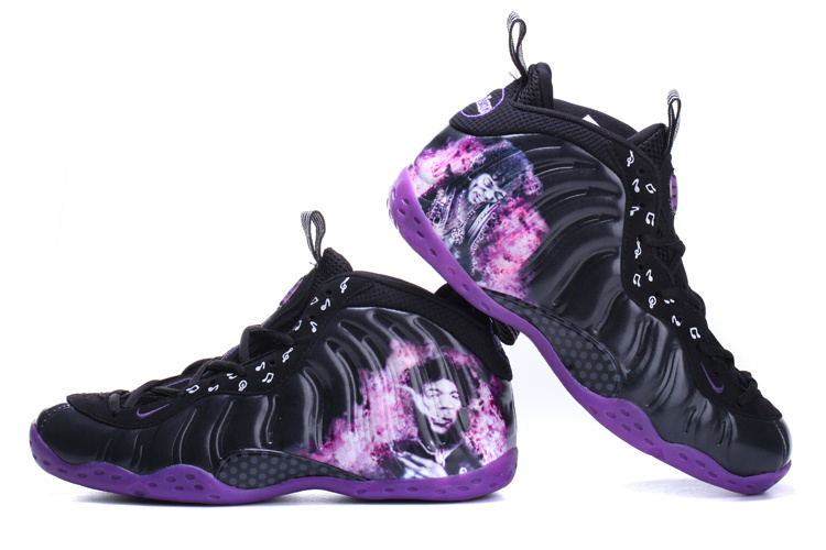 Classic Nike Air Foamposite One Black Purple Shoes