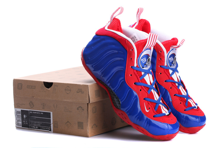 Classic Nike Air Foamposite One Blue Red White Shoes