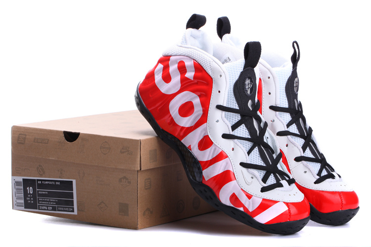 Classic Nike Air Foamposite One White Black Red Shoes