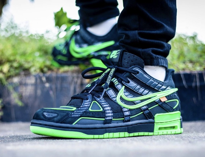OFF-WHITE x Nike Air Rubber Dunk Black Green Shoes