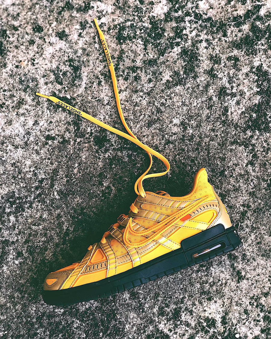 OFF-WHITE x Nike Air Rubber Dunk Yellow Black