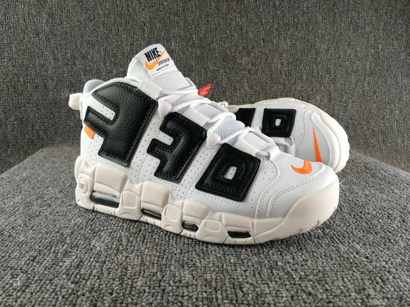 Off White Nike Air Uptempo White Black Shoes