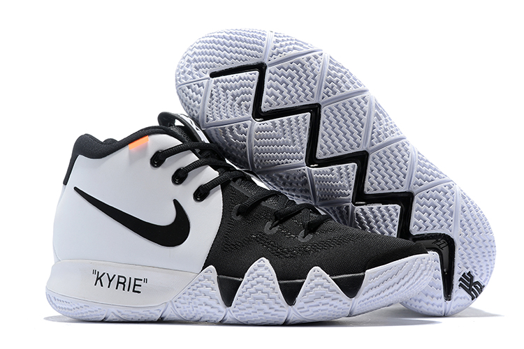 Off-white Nike Kyrie 4 Black White Shoes
