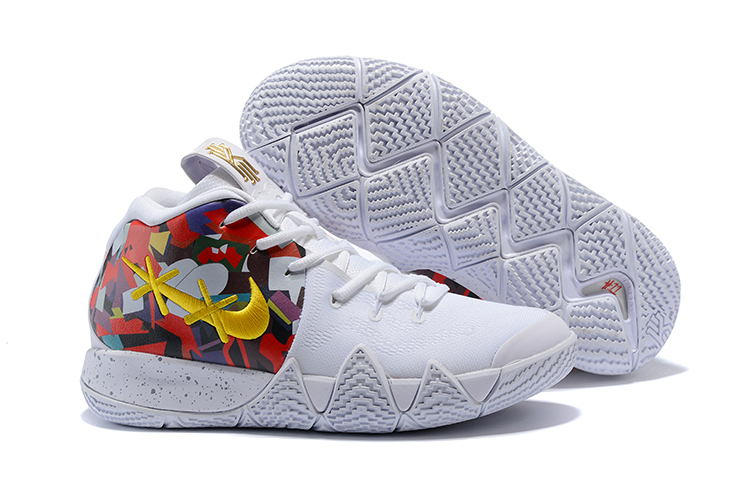 Off-white Nike Kyrie 4 White Colorful Print Shoes