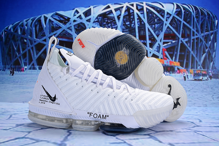 Off-white Nike LeBron 16 Black White Shoes