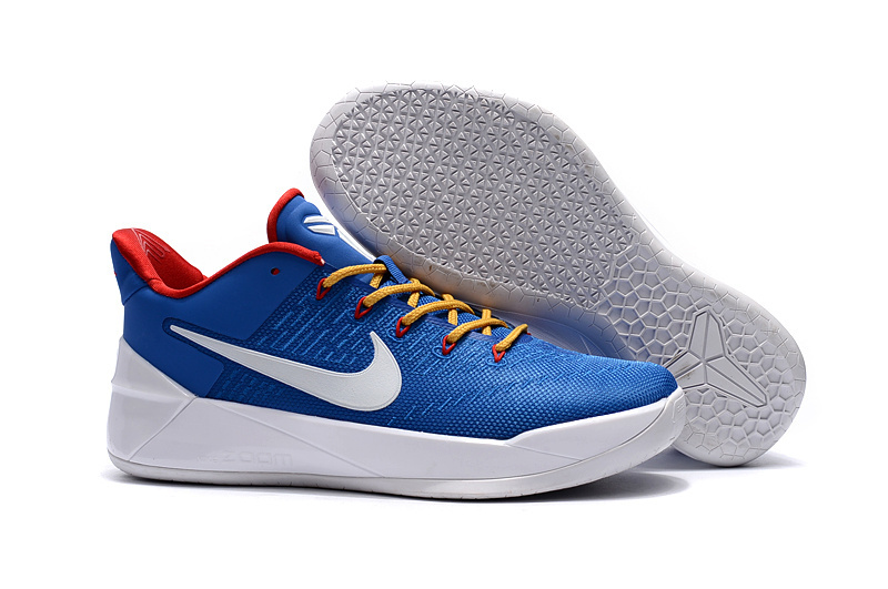 Official Nike Kobe Bryant 12 Blue Yellow Red Shoes