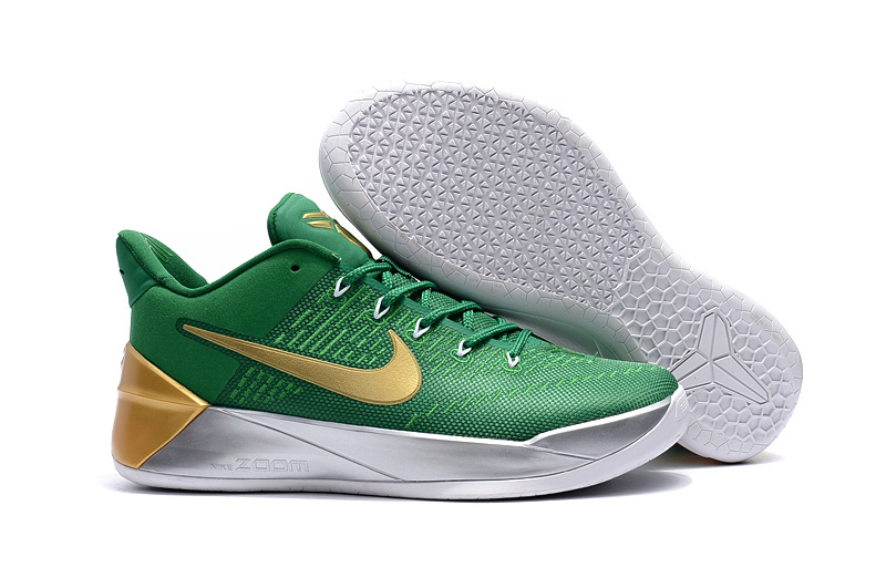 Official Nike Kobe Bryant 12 Green Gold Shoes