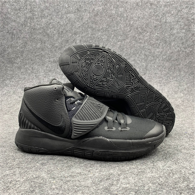 Original Nike Kyrie 6 All Black Shoes