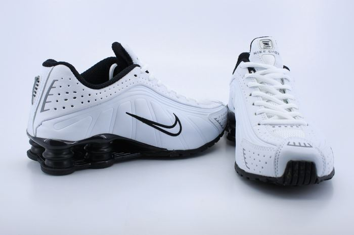 Original Nike Shox R4 White Black For Men