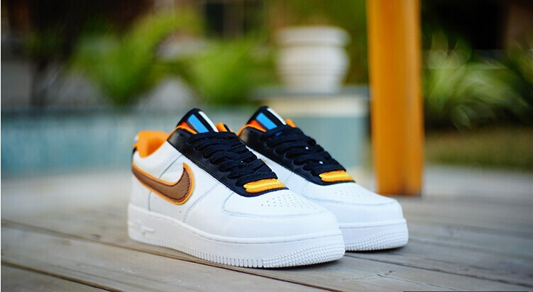 Riccardo Tisci Nike R.T. Air Force 1 Low White Black Yellow Shoes