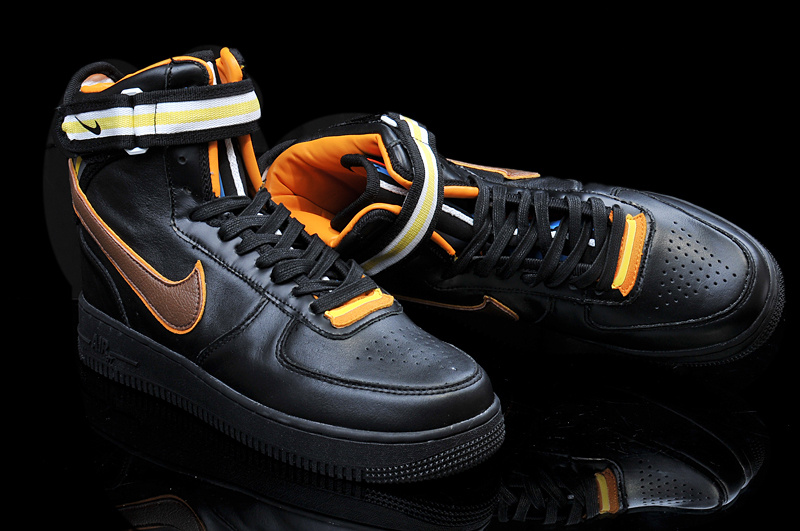 Riccardo Tisci Nike R.T. Air Force 1 Black Yellow Shoes