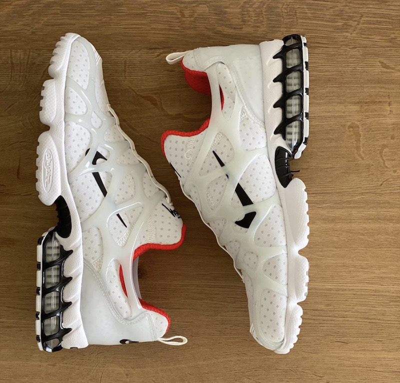 Stussy x Nike Air Zoom Spiridon KK White Black Red Shoes