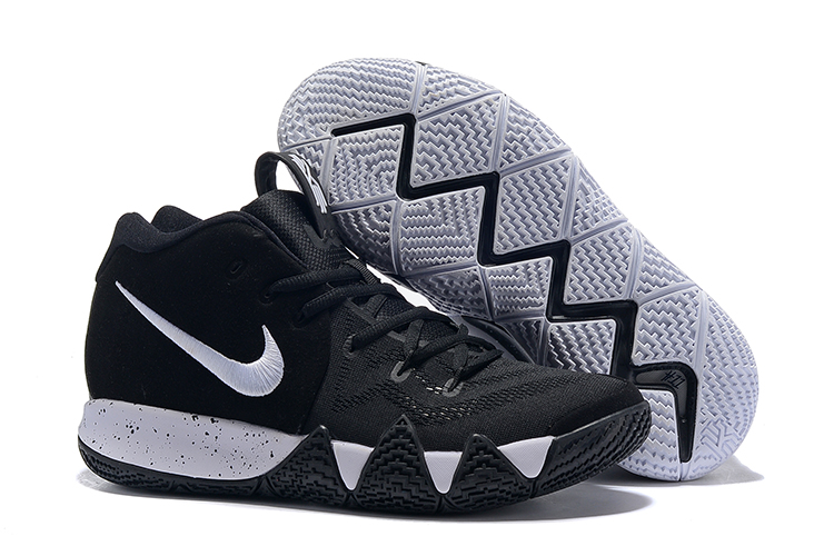 What the Kyrie 4 of Black White Shoes