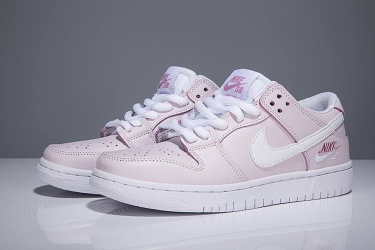 Women Nike Dunk Low Elite SB Pink White Shoes