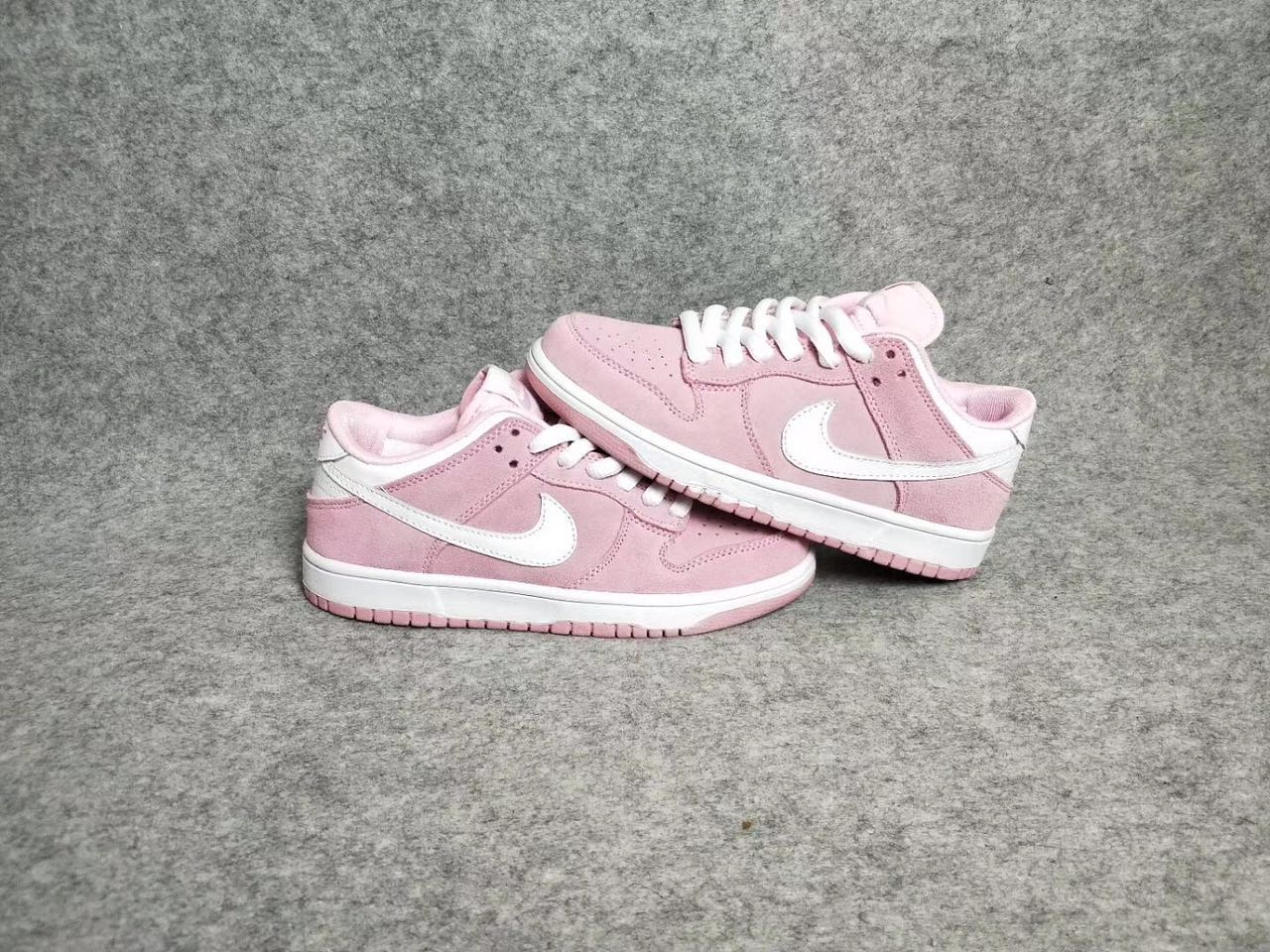Women Nike Dunk Low GS Pink White Shoes