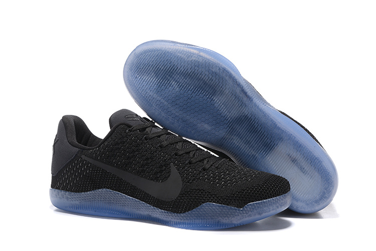 Women Nike Kobe 11 Flyknit Black Gamma Blue Shoes